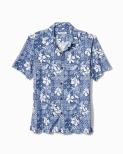 Big & Tall Tahitian Tiles IslandZone® Camp Shirt