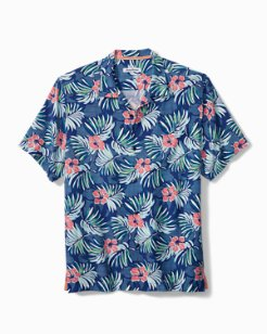 Big & Tall Marina Blooms Camp Shirt