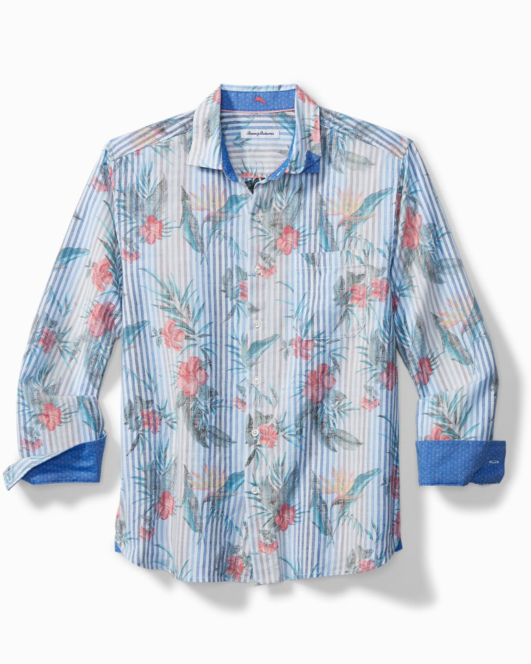 Main Image for Big & Tall Villa Blooms Stretch-Linen Shirt