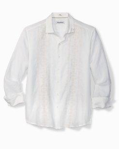 Big & Tall Verona Vines Embroidered Linen Shirt