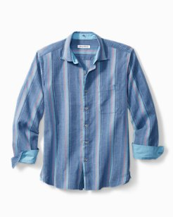 Big & Tall Corsica Stripe Stretch-Linen Shirt