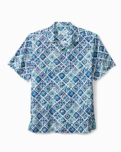 Big & Tall Tivoli Tiles IslandZone® Camp Shirt