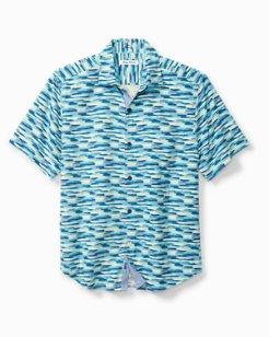 Big & Tall Azul Lagoon IslandZone® Camp Shirt