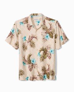 Big & Tall Flora Breeze Way Camp Shirt