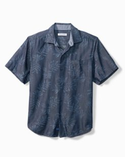 Big & Tall Here We Go Indigo Camp Shirt