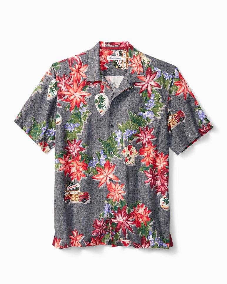 Main Image for Big & Tall Poinsettia Holiday Camp Shirt