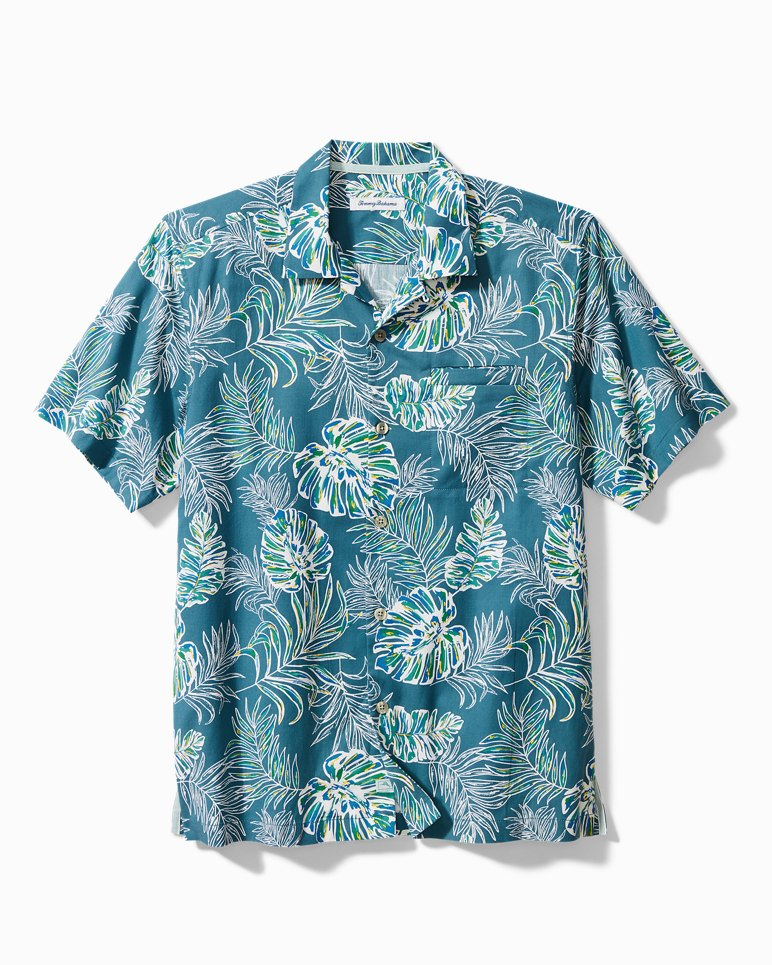 Main Image for Big & Tall Canyon Leaves Stretch-Cotton Camp Shirt