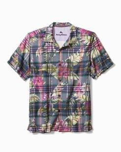 Big & Tall Huladays Plaid Camp Shirt