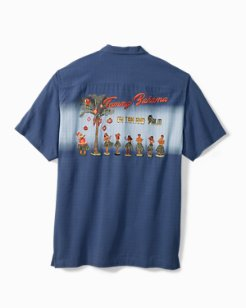 Big & Tall Oh Tan And Palm Camp Shirt