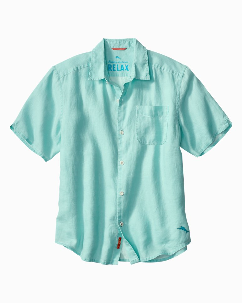 Main Image for Big & Tall Sea Glass Breezer Linen Camp Shirt