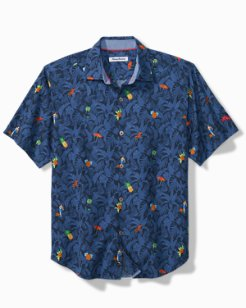 Big & Tall Beach-Cation Camp Shirt