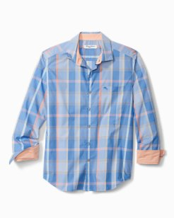 Big & Tall Newport Coast Alterra Plaid IslandZone® Shirt