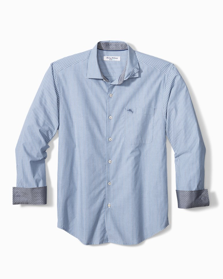 Main Image for Big & Tall Newport Coast Chalk Stripe IslandZone® Shirt
