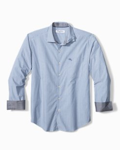 Big & Tall Newport Coast Chalk Stripe IslandZone® Shirt