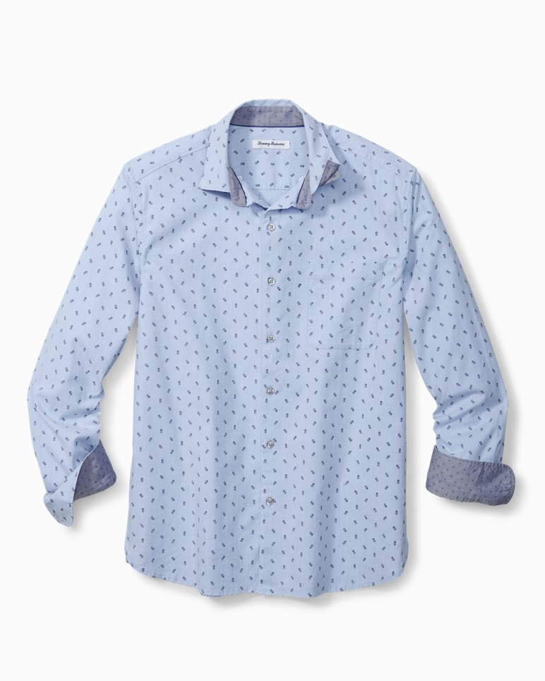 Main Image for Big & Tall Pineapple Blues Stretch-Cotton Shirt