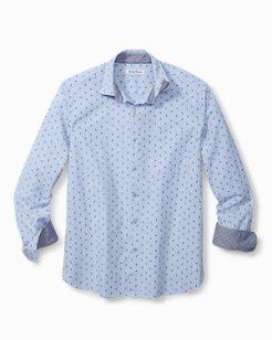 Big & Tall Pineapple Blues Stretch-Cotton Shirt