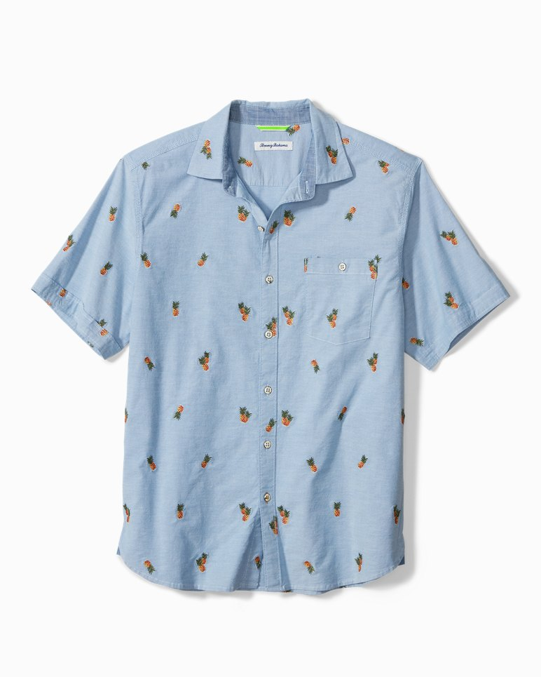 Main Image for Big & Tall Pineapple Isles Stretch-Cotton Camp Shirt