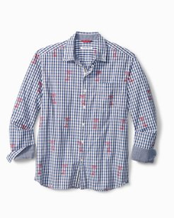 Big & Tall Palm Gingham Shirt