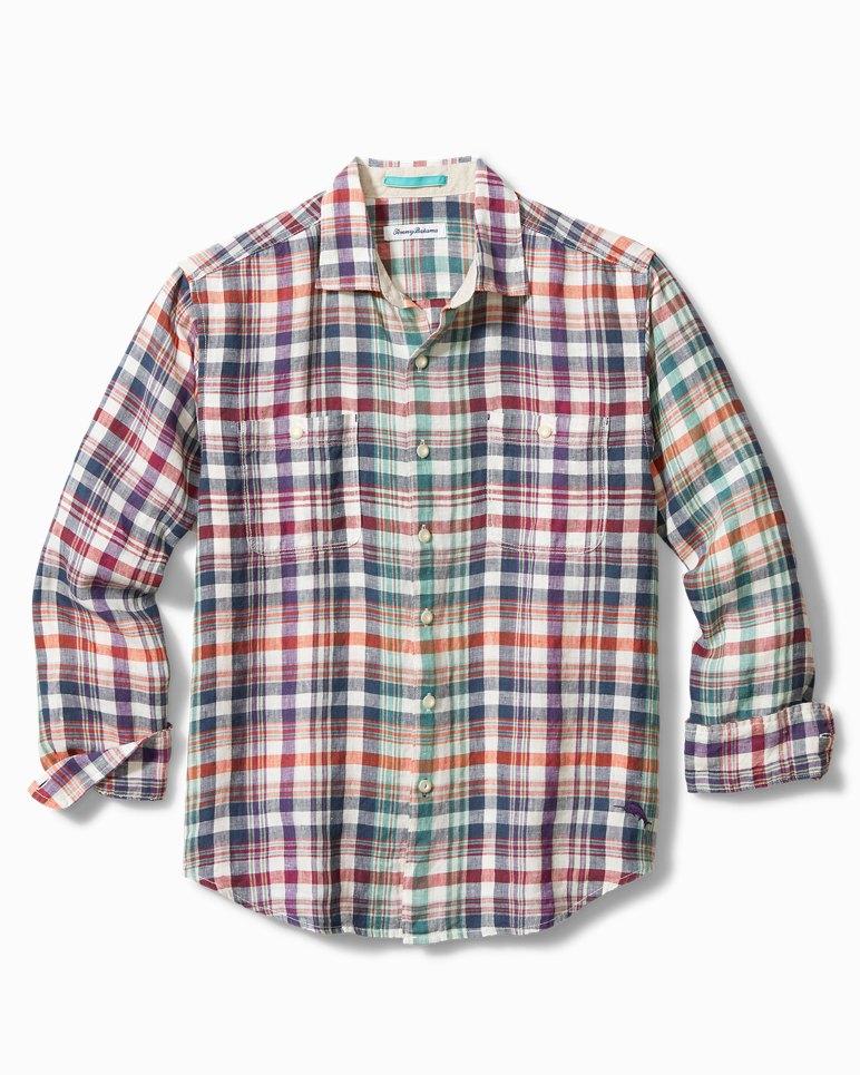 Main Image for Big & Tall Valverde Plaid Linen Shirt