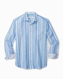 Big & Tall Darjeeling Stripe Stretch-Linen Shirt