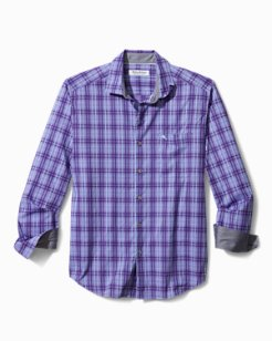 Big & Tall Newport Coast Sands Check IslandZone® Shirt