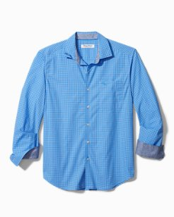 Big & Tall Newport Coast Gingham Grove IslandZone® Shirt