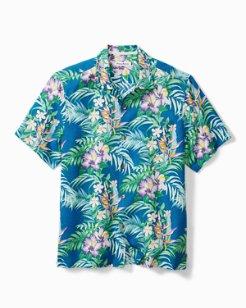 Big & Tall Hilo Gardens Camp Shirt