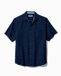 Big & Tall Costa Capri Stretch-Linen Camp Shirt