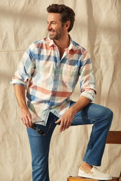 Big & Tall Paradise Poplin Check Shirt