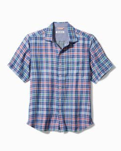 Big & Tall Tiamo Bay Plaid Camp Shirt