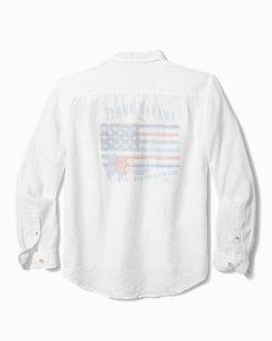 Big & Tall Star-Spangled Bahama Linen Shirt