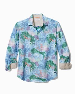 Big  & Tall Tropic Caliente Linen Shirt
