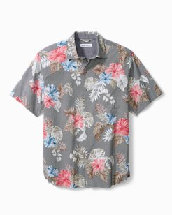 Big & Tall Bora Bora Flora Cotton-Stretch Camp Shirt