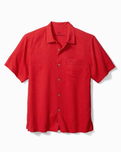 Big & Tall-Royal Bermuda IslandZone® Camp Shirt
