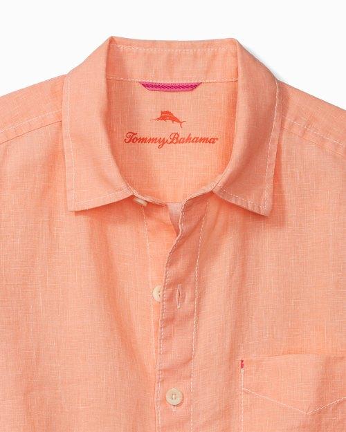 Big & Tall Sea Glass Breezer Linen Shirt