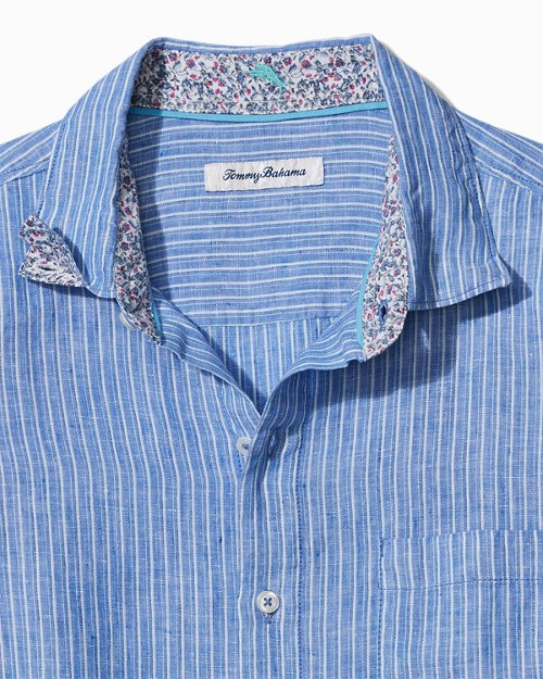 Big & Tall Bon Vivant Stripe Linen Shirt