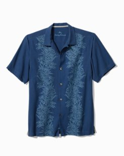 Big & Tall Midnight Blooms Camp Shirt