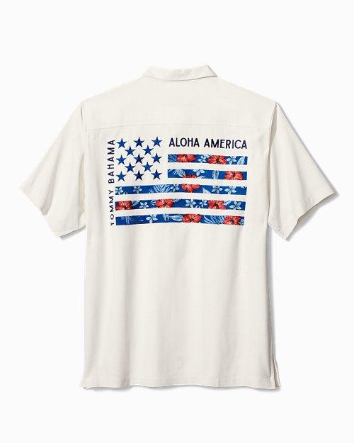 Big & Tall Aloha America Panelback Camp Shirt