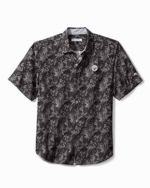 Big & Tall NFL Sport Jungle Shade Silk Camp Shirt