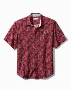 Big & Tall Collegiate Sport Jungle Shade Silk Camp Shirt