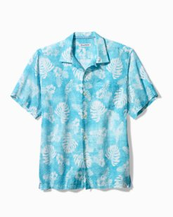 Big & Tall Flocka Bahama Linen Camp Shirt