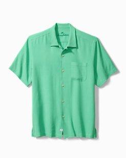 Big & Tall Hawaiian Herringbone Camp Shirt