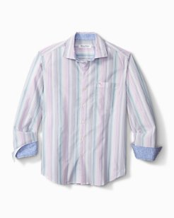 Big & Tall Newport Coast Tanzanite Stripe IslandZone® Shirt