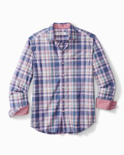 Big & Tall Newport Coast Tanga Plaid IslandZone® Shirt