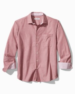 Big & Tall Heather Bay Herringbone Stretch-Cotton Shirt