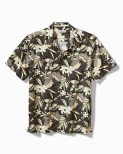 Big & Tall Paradise Plumeria Camp Shirt