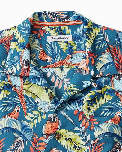 Big & Tall Paradiso Parrots Camp Shirt