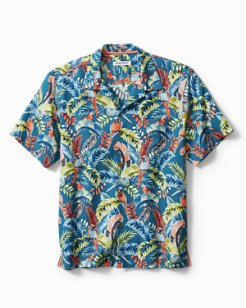 Big & Tall Paradiso Parrots Camp Shirt