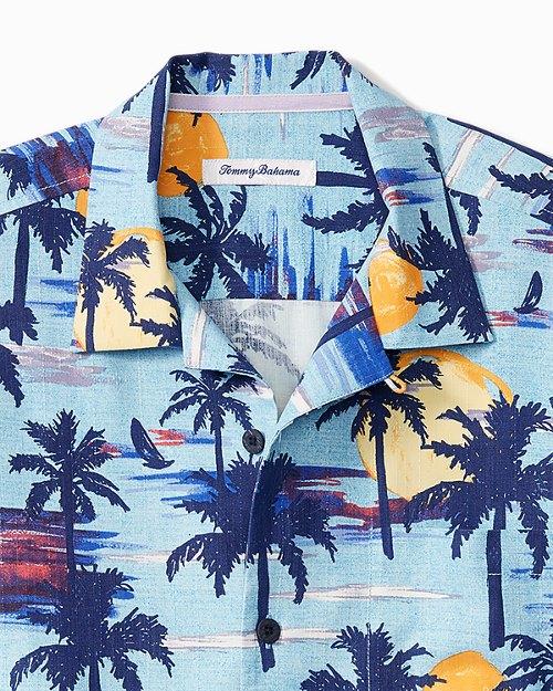 Big & Tall Soleil Palms IslandZone® Camp Shirt