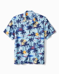 Big & Tall Soleil Palms IslandZone® Camp Shirt